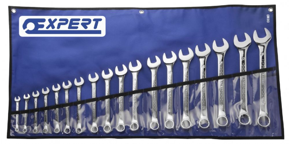 Britool Expert E110313B 18 Piece Combination Spanner Set In Tool Roll